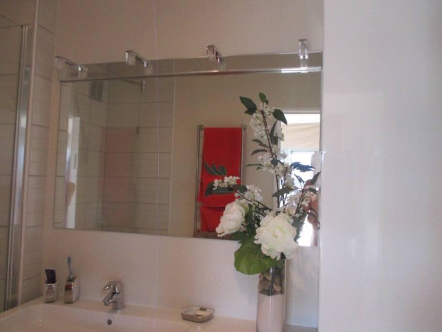 détails de la salle de bain