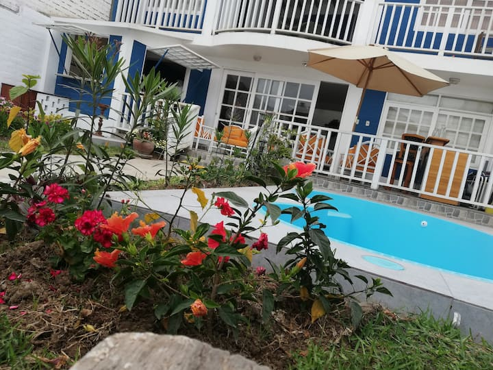 Casa de playa con piscina privada para 8 personas