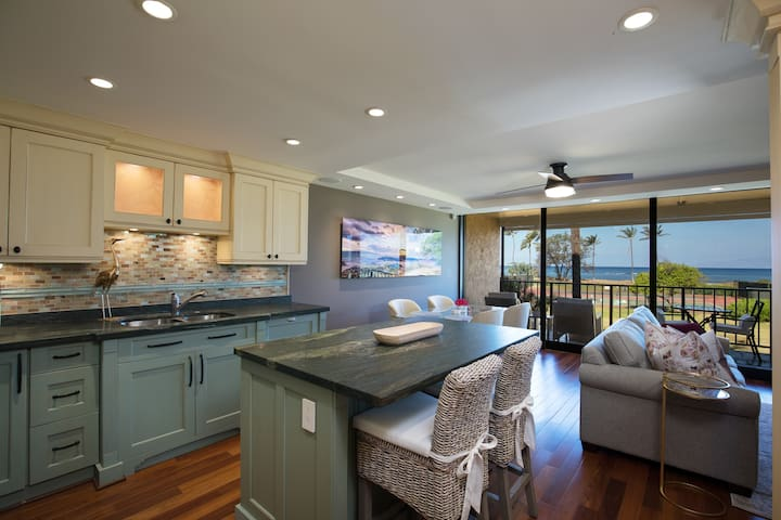 Beachfront Remodel with 180° Views ★ Epic Sunsets