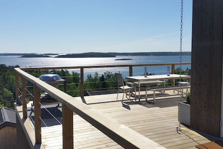 Newly built house with magical view! - Tyresö Ö - Blockhütte
