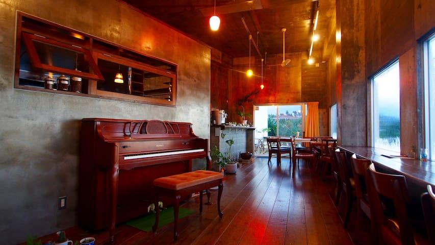 Ocean Front Villa Piano & Cafe★SUP/WiFi/Kids Free