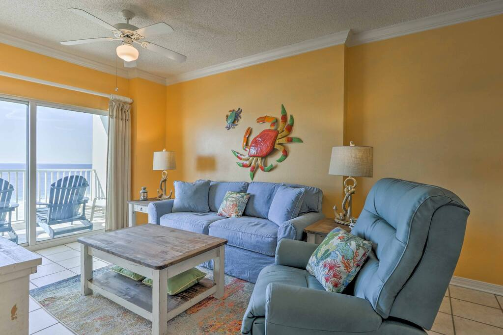 Relax inside and enjoy cool ocean breezes during your stay at 'Tidewater 708.'