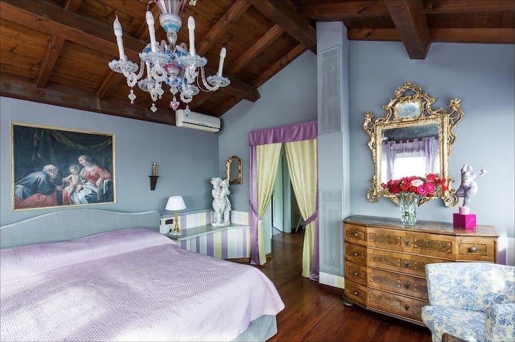 bedroom with details
