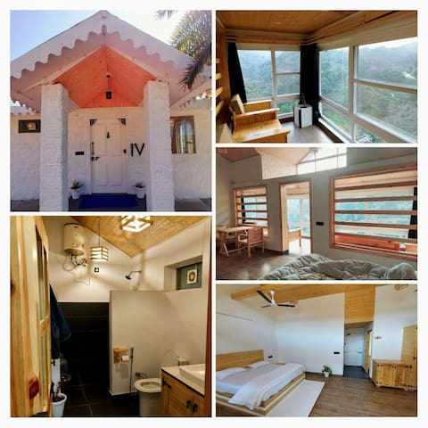 Suite Room or studio apartment with king-size spring bed , Extra Bed, smart Television, wardrobe, Air conditioner,  Breakfast table with 2 chairs, covered in room glass covered Balcony with sofa chairs , pantry, washroom with modern Bath accessories