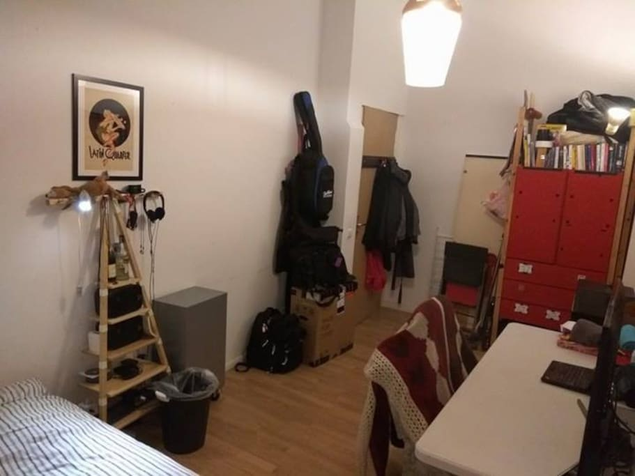 How the room looks at night, recent pic