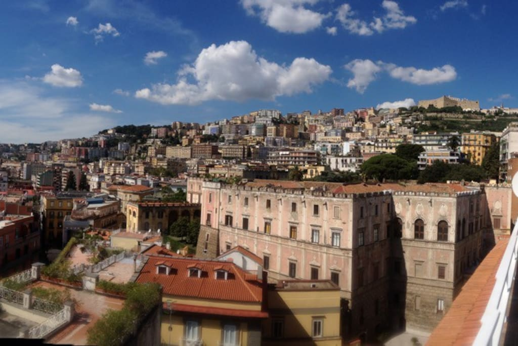 Panoramic with hystorical building Cellamare...