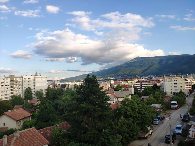 Vitosha view room, sunny apartment, shared dining
