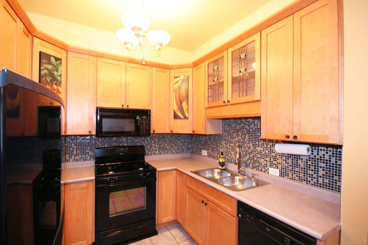 Stove, refrigerator, microwave and dishwasher