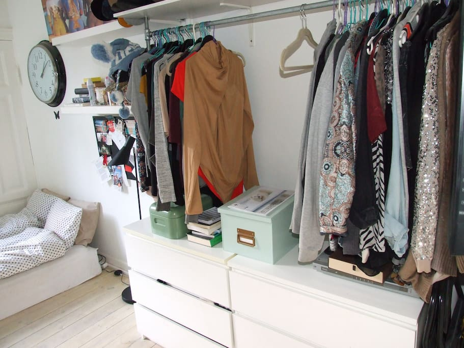 The room - Place to hang your clothes