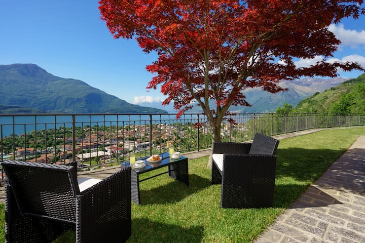 ACERO ROSSO overlooking the lake - Vercana - Apartamento