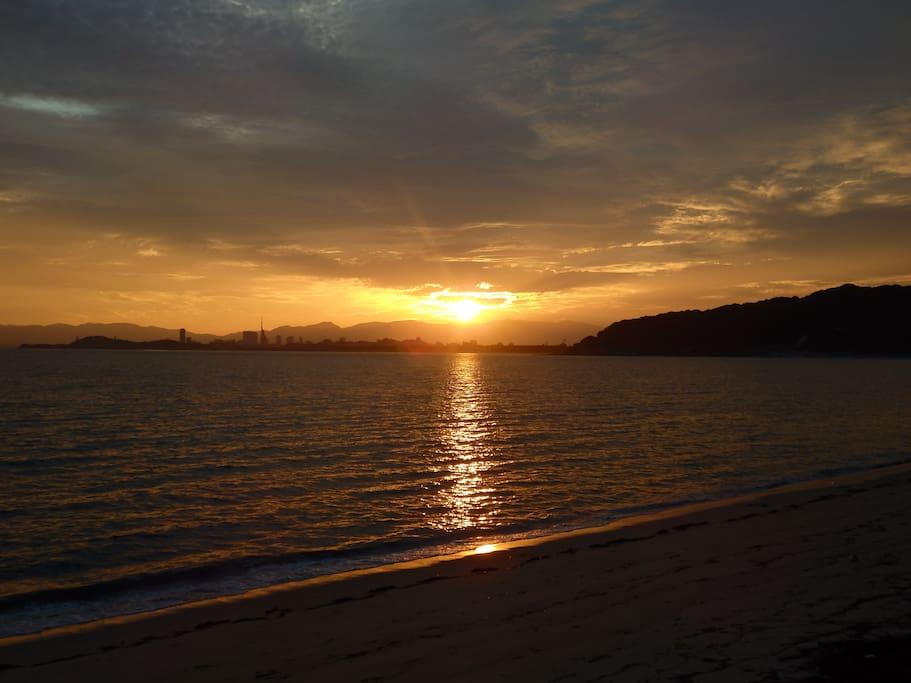 morning sunlight at Imazu beach