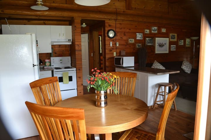 Authentic log home, explore, relax, have fun!
