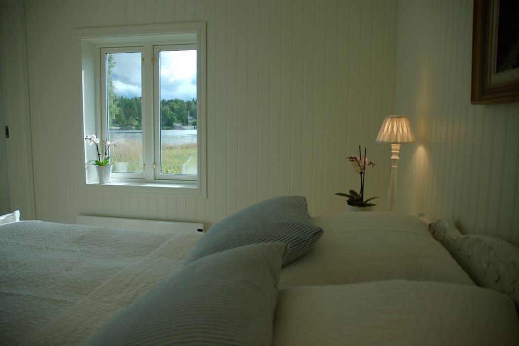 Blick aufs Meer vom Schlafzimmer