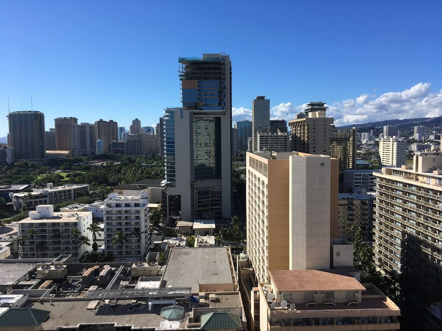 City view from lanai