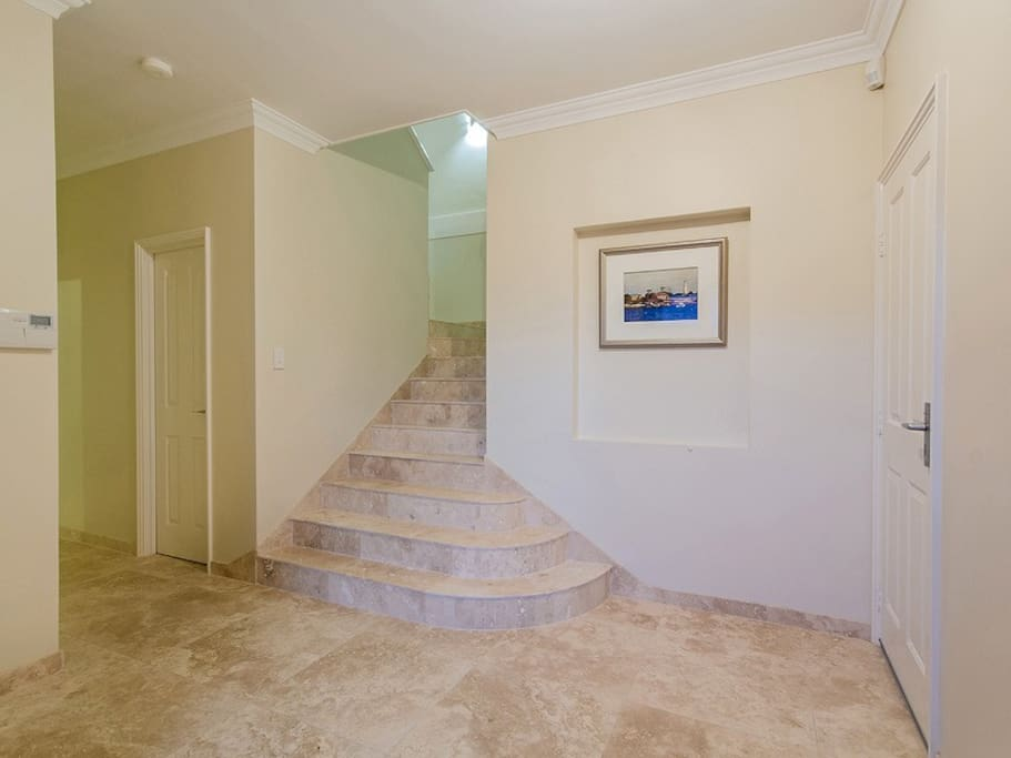 Stone floors and luxury fittings throughout the whole home
