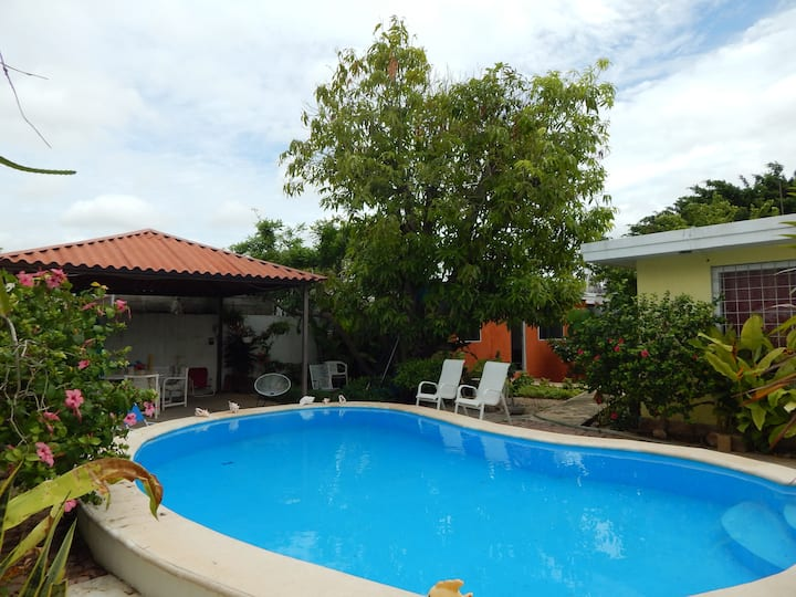 La casita de la flores:  pool and free cup massage