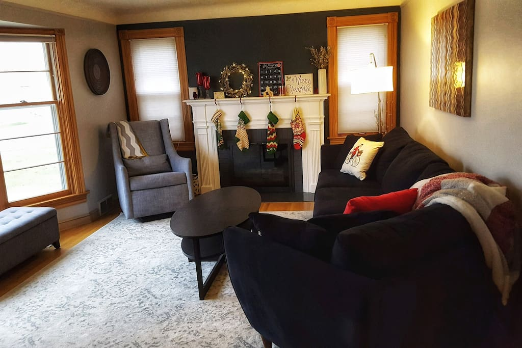Main floor living room  - I promise the Christmas decorations are put away :)