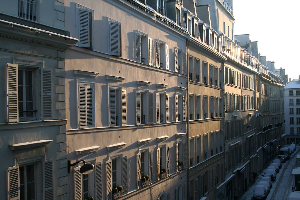Street view from the apartment window