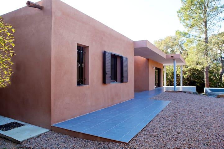Maison contemporaine avec piscine - Zonza - Huis