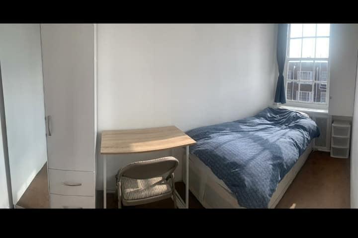 Bright room in serene home