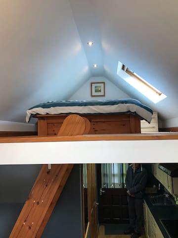 Mezzanine sleeping area