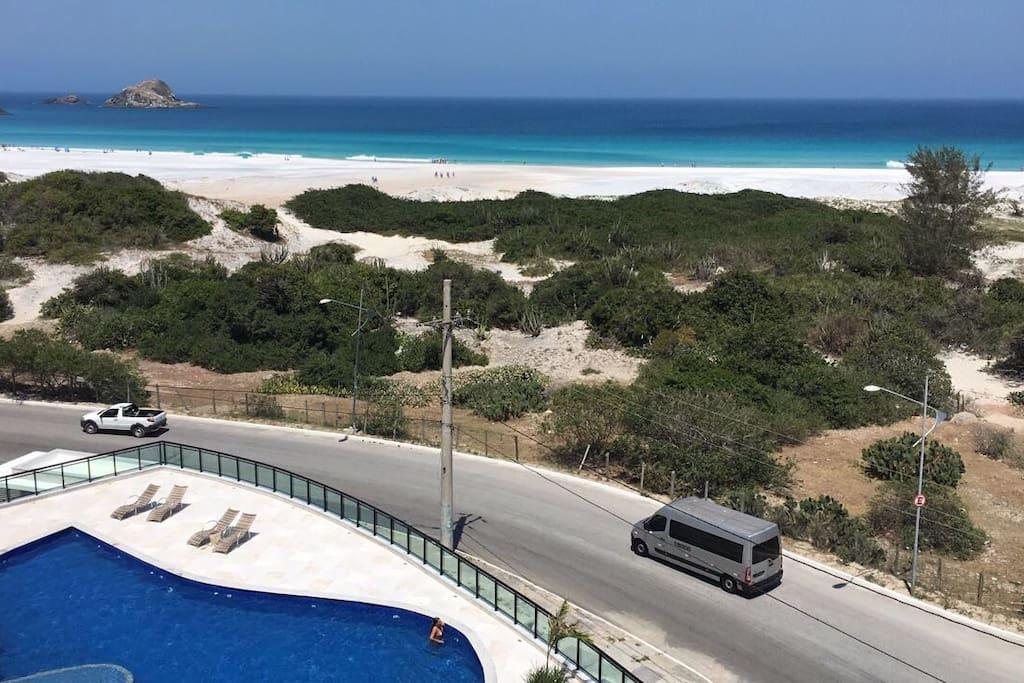 Vista da piscina - Praia Grande