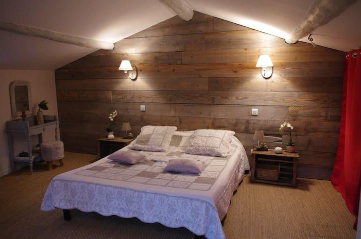Chambre cosy mansardée au pied du Vercors - Barbières - Guesthouse