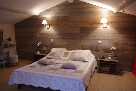 Chambre cosy mansardée au pied du Vercors - Barbières - 宾馆