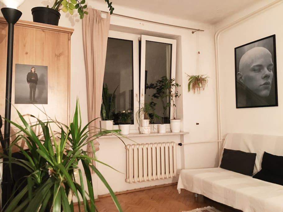 The room's current arrangement