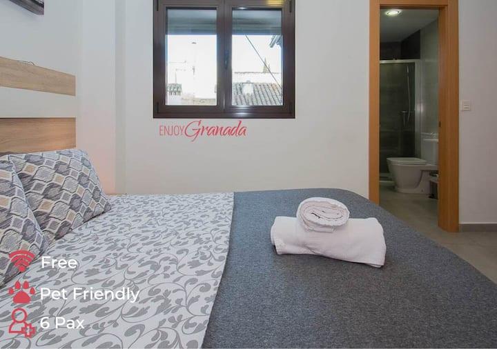 EnjoyGranada ❤ Realejo Penthouse and Terrace