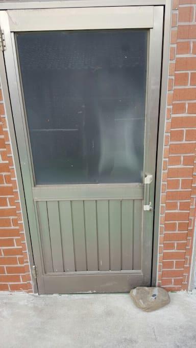 The main door at 2nd floor