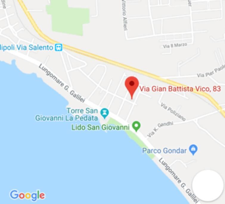 Mappa della zona Lido San Giovanni