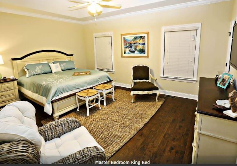 "Master Bedroom with 46"" TV/DVR"