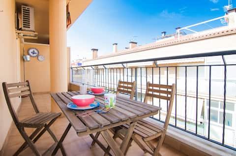 Encantador apartamento con vistas al mar