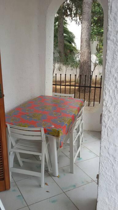 Tavolo portico posteriore