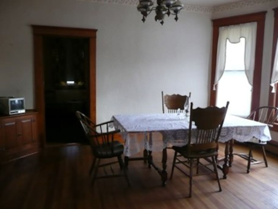 Large dining room opens to living room