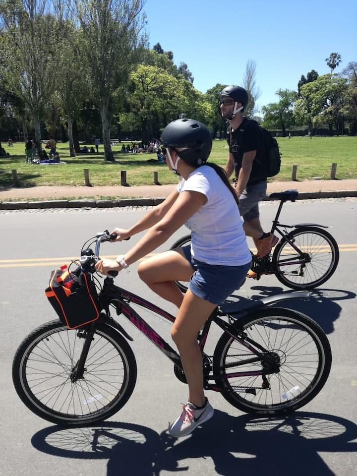 Biking at Bosques de Palermo Green Area
