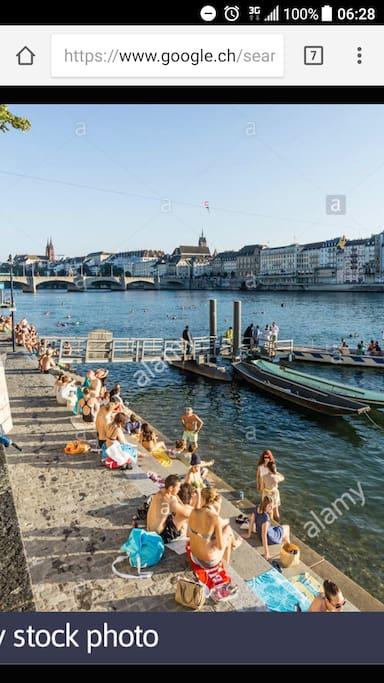 Rhein in der Nähe 3min zu Fuss