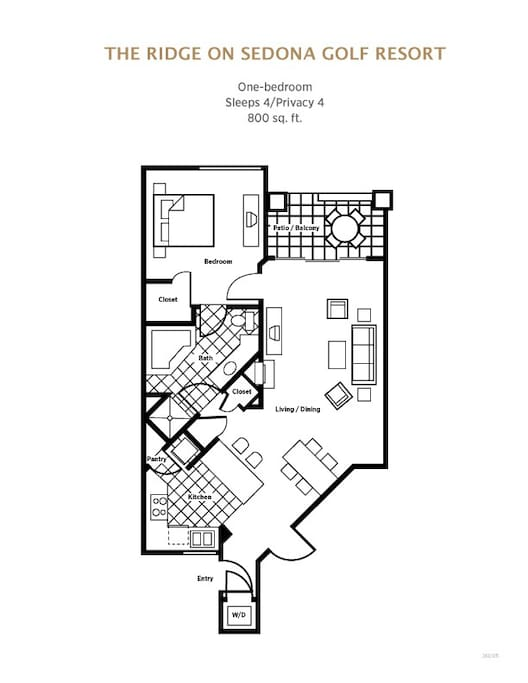 One Bedroom FloorPlan. We are the #1 Rental in Sedona. We offer Studio, One & Two Bedroom Villa's. Plus 2 Heated Pools & 4 Hot Tubs. Voted Top 5 Best Places to Stay in Sedona. Sedona Vacation Rental
