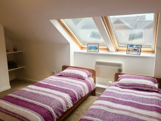 Twin room which can be made into double if needed