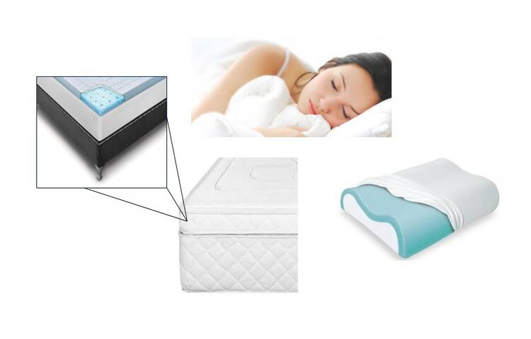 Aseguramos el Descanso.  Cama con doble Pillow de Memory Foam igual que las almohadas, colchón de lujo.