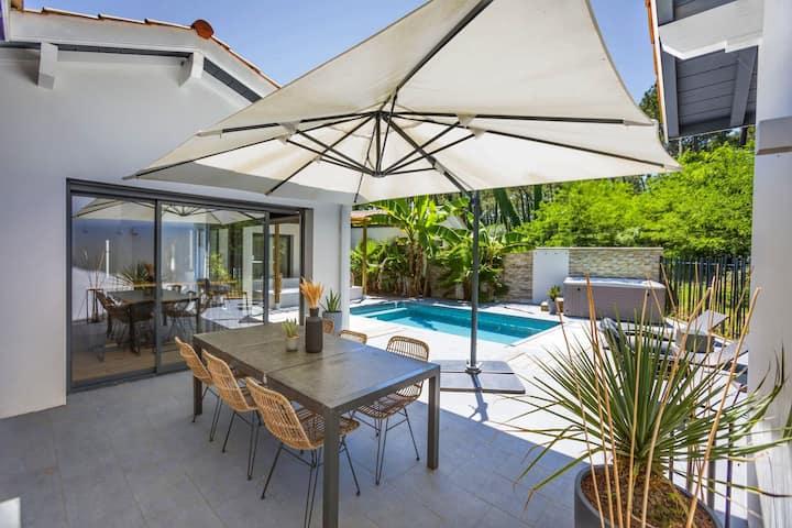 Villa piscine jacuzzi Chiberta à 800m de l'océan