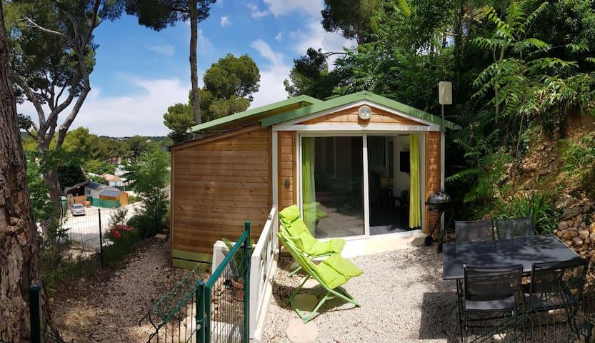 Location Mobil home, type chalet en bord de mer