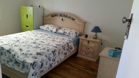 Modern style queen bedroom