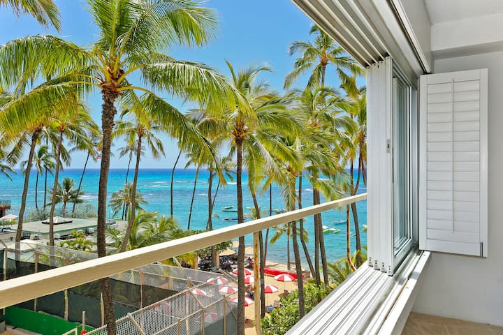 Beachfront Building at Quiet End of Waikiki! CS407