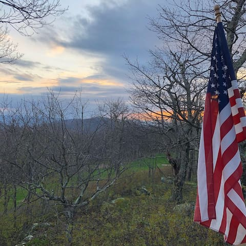 Enjoy your space on a half acre lot. The view from the back deck faces Waynesboro and immediately the 15th hole of the Devil's Knob Golf Course.