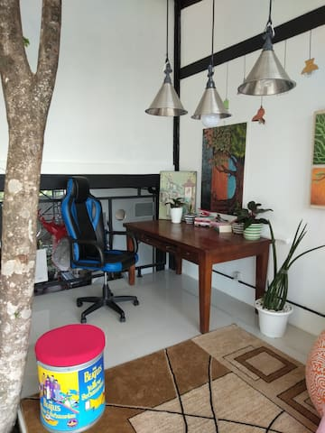 Cozy working or studying corner