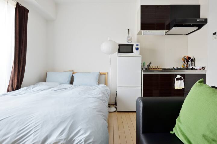 Central of Osaka! Beautiful place/cozy room/1401