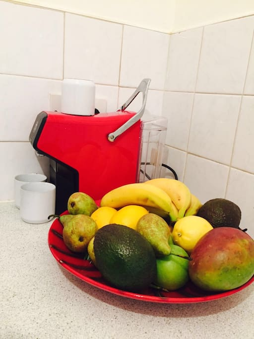 Lavazza coffee and fruit complimentary