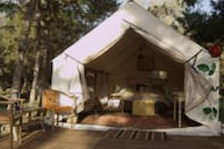 Glamping tents on 80 acre ranch - Хелена